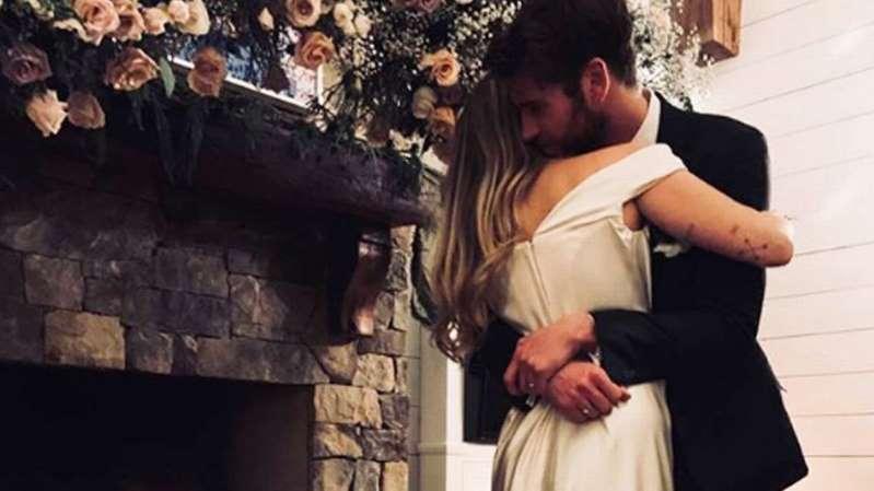 Miley Cyrus se casó ¿ya viste su vestido?