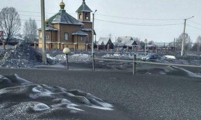 ¿Sabías que existe nieve negra en Rusia?