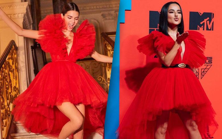 Becky G usó el mismo vestido que Kendall Jenner