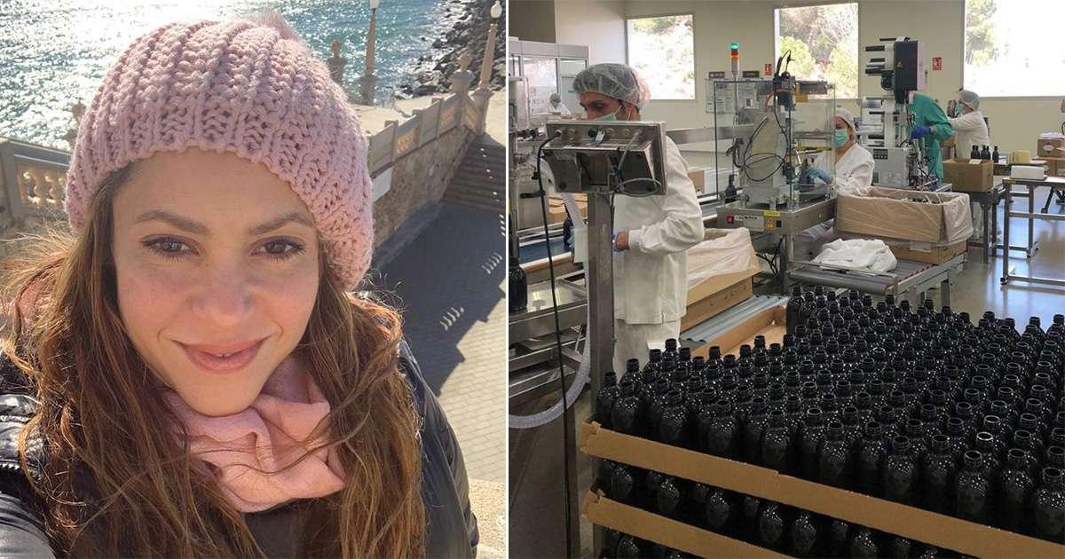 La empresa de perfumes de Shakira fabricará alcohol gel