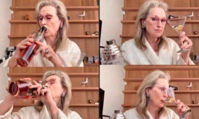 Meryl Streep en cuarentena toma whisky con amigas