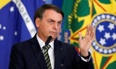 Presidente de Brasil, Jair Bolsonaro, dio positivo a coronavirus