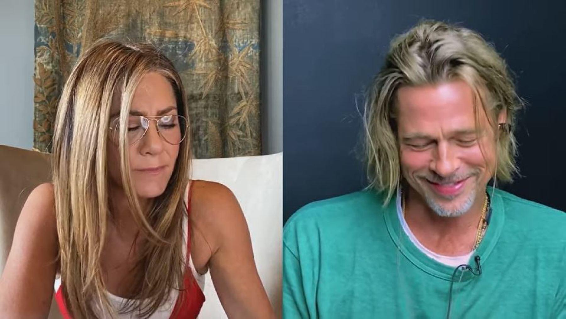 Brad Pitt y su reacción por ver a Jennifer Aniston