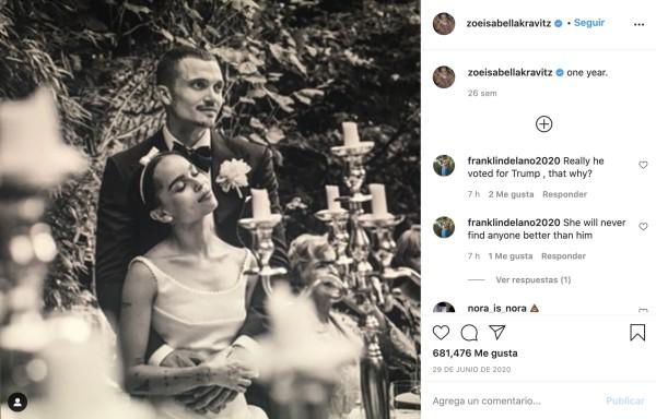 Zoe Kravitz y Karl Glusman se divorciaron tras 18 meses